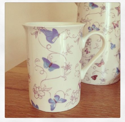Pretty Flutterbyes China Butterfly Boxed Mug